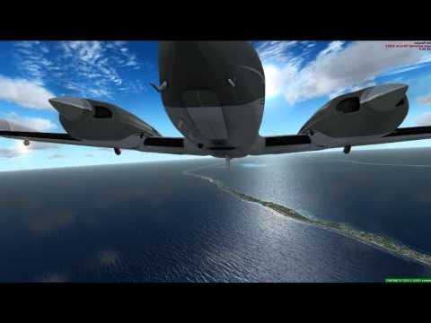 FSX | C340 II | Marshall Islands PKMJ - N20 | HD | 1055T @ 4GHz | GTX 470