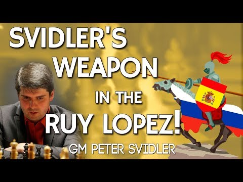Svidler's Weapon ⚔ in the Ruy Lopez with GM Peter Svidler [chess24]