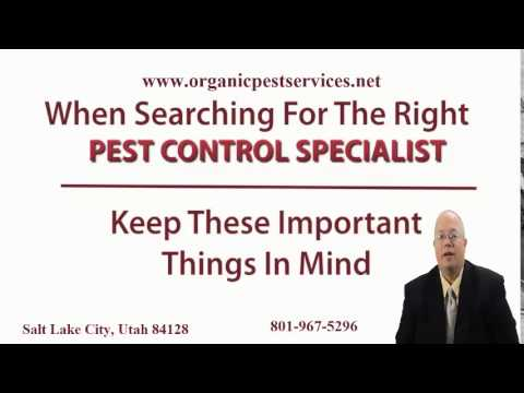 Organic Pest Control Salt Lake City Utah