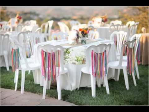 Easy DIY ideas for backyard wedding decorations - YouTube