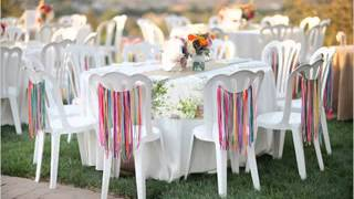 Easy DIY ideas for backyard wedding decorations