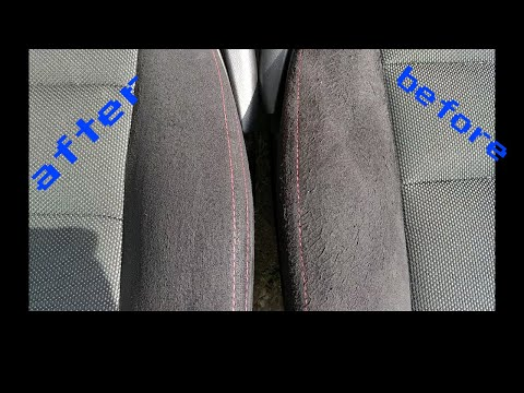 BEST & FASTEST way to clean suede/alcantara/fabric seats or cloth interior and floor mats