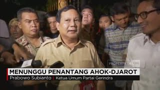 Prabowo: Pengumuman Cagub-Cawagub DKI Belum Malam Ini