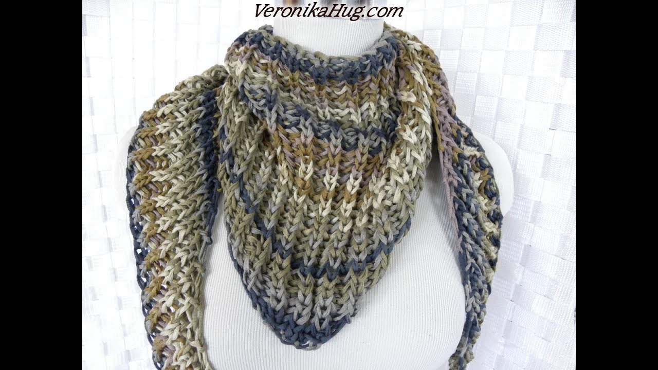 Stricken - Tuch Patentmuster VENEDIG - Woollly Hugs 10 - Veronika ...