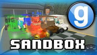 garry s mod sandbox funny moments 5 wildcat s cooking show and golf cart race fun