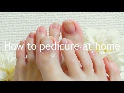 How to pedicure at home / おうちで簡単セルフペディキュア