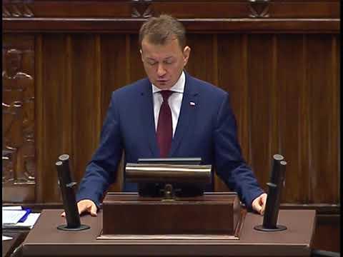 Mariusz Błaszczak – Wystąpienie Ministra Spraw Wewnętrznych i Administracji w Sejmie