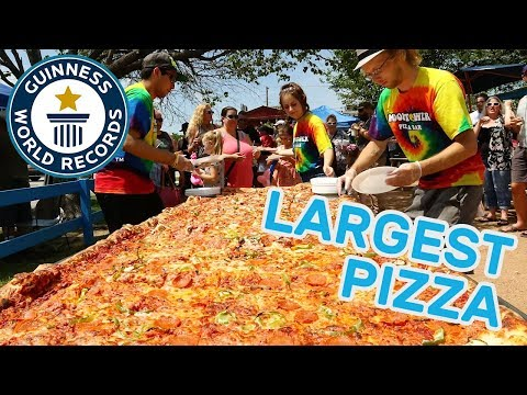 Longest commercially available pizza – Guinness World Records