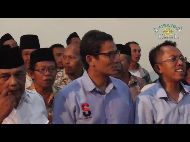 Meriah, Ribuan Masyarakat Dukung Sandiaga Uno Di Blitar