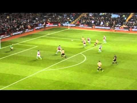 GOAL: James Hanson - Aston Villa vs Bradford City - Capital One Cup Semi Final (2nd Leg)