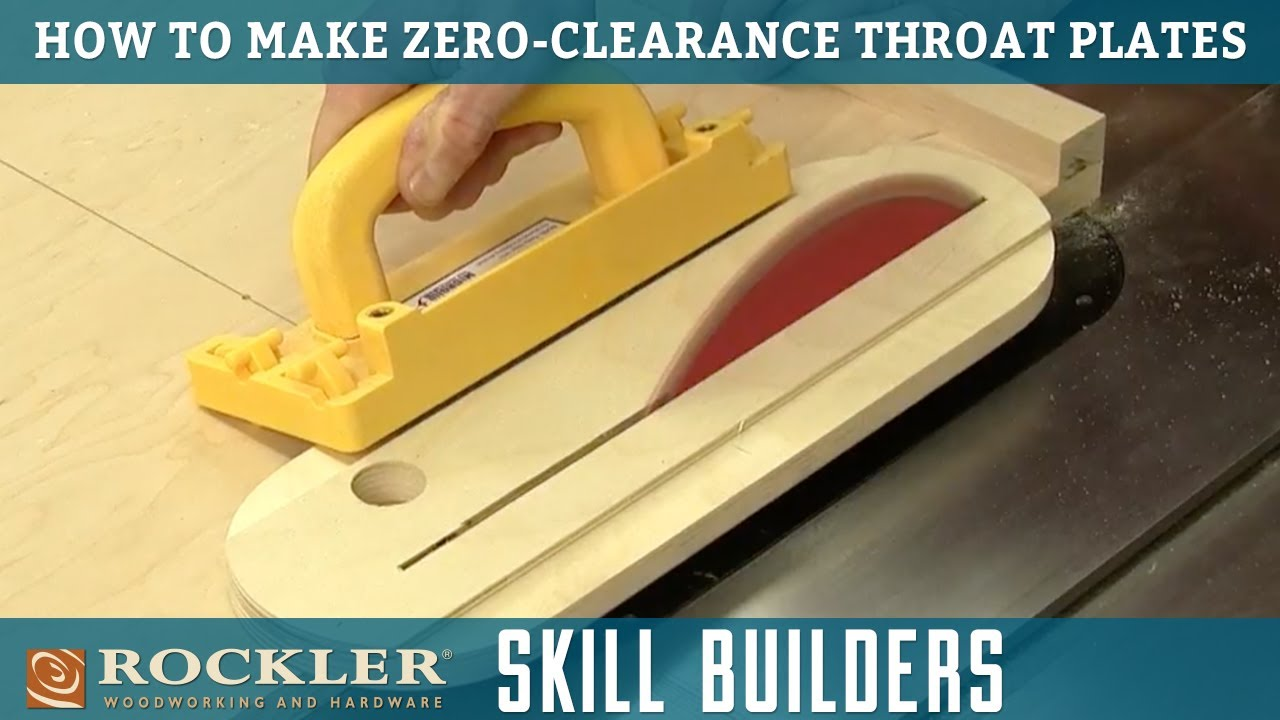 Zero Clearance Table Saw Insert Material