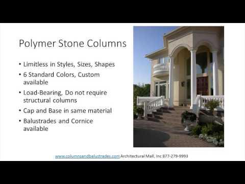 GFRC, Polyurethane, PVC, Wood, Aluminum and Polymer Stone Columns