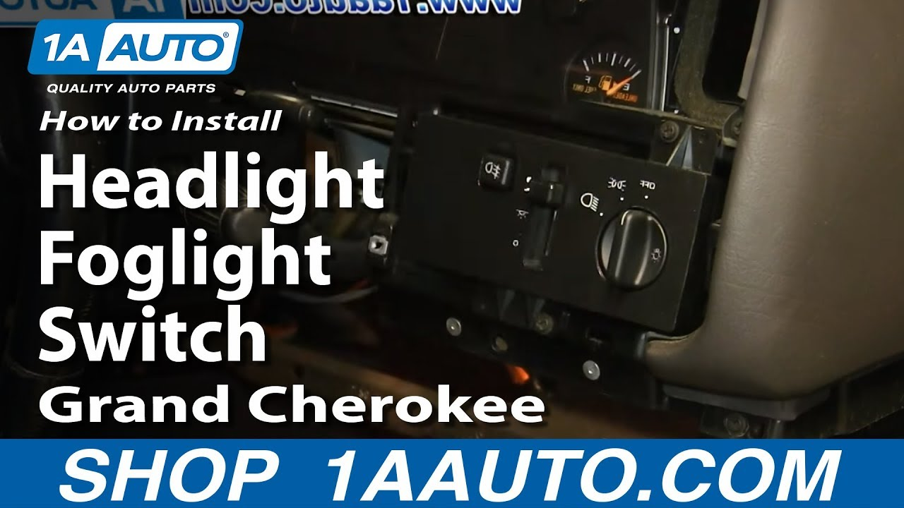 how to replace headlight switch 94 98 jeep grand cherokee [ 1280 x 720 Pixel ]