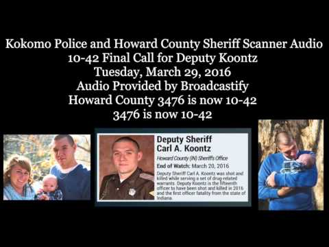 Emotional 10-42 Deputy Koontz final call