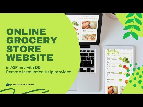 Online Grocery Store Shopping Project Website in ASP.Net with C#.Net & SQL Server - Responsive Design image