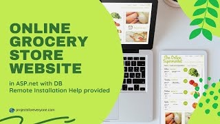Online Grocery Store Shopping Project Website in ASP.Net with C#.Net & SQL Server