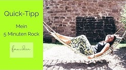Rock ohne Schnittmuster nähen: Mein 5 Minuten Rock
