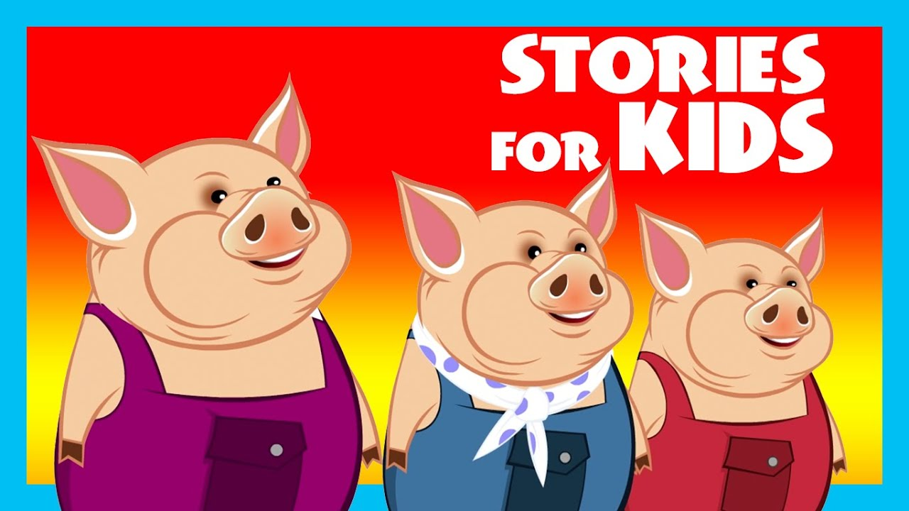 Uncategorized The Three Little Pigs Story For Children stories for kids three little pigs story compilation moral by hut youtube