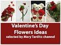 Valentines Floral Arrangement Ideas - Best Valentine's Day Decor - Valentines Day Ideas