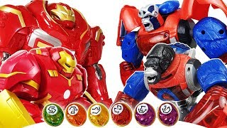 Hulkbuster vs Transformers Gorilla Optimus Primal! No one is Match for Hulk! Avengers Go~! Iron Man