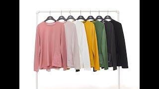 2020FW 폴스크릭 포켓 라운드 티셔츠 7종 여성