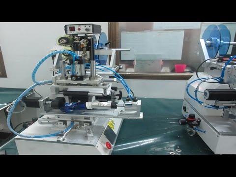 rolling labeling machine with date printer for filled bottles Maszyna do etykietowania butelek