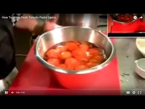 How To Make Fresh Tomoto Pasta Sauce | health food recipes,| party food ideas