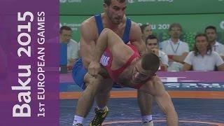 Elvin Mursaliyev strikes Gold for hosts | Wrestling | Baku 2015 European Games