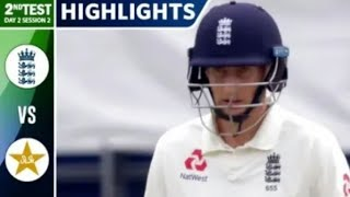 Pak V England | 2nd test day 2 | Complete HD Highlights | All action
