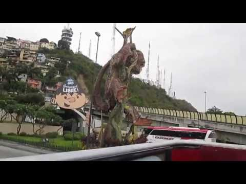 Tourist bus ride in Guayaquil