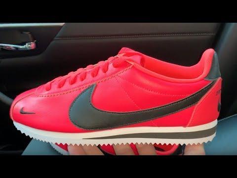 f0bf7bc70968c3 Nike Classic Cortez Premium Red Orbit mens shoes - YouTube