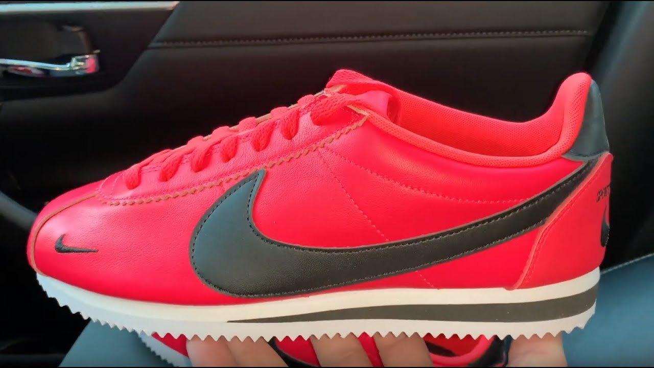 Nike Classic Cortez Swooshes Premium Red Orbit mens shoes