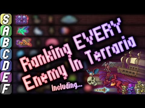 Ranking EVERY SINGLE ENEMY In Terraria!