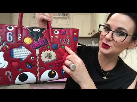 Reveal of my naughty handbag treat anya hindmarch stickers collection ebury tote bag