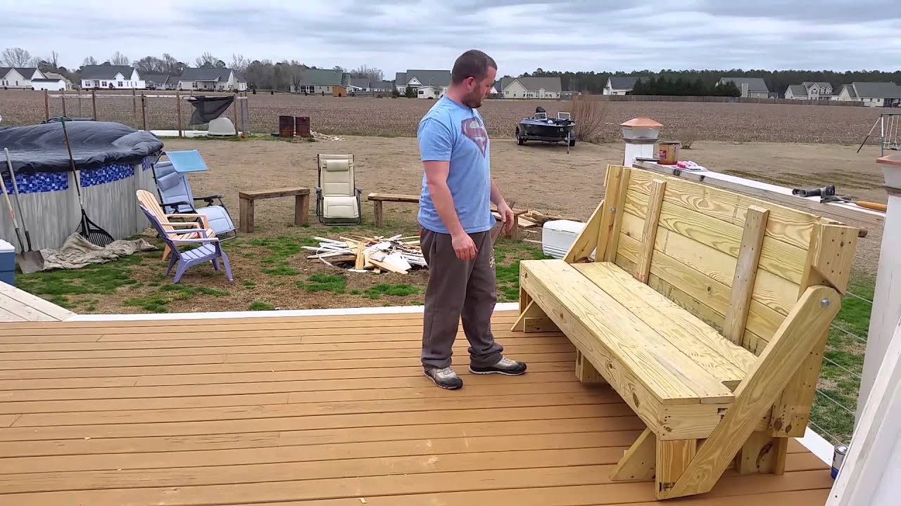 Folding Picnic Table To Bench Youtube