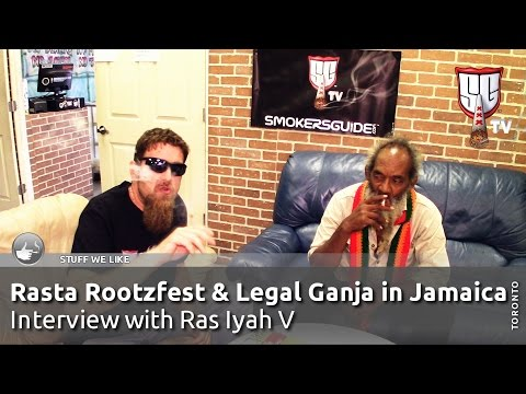 Rasta Rootzfest 2016 & Legal Ganja in Jamaica - Interview with Ras Iyah V - Smokers Guide TV Canada