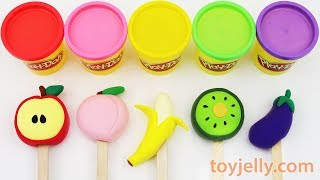 How to Make Play Doh Popsicles Ice Cream Learn Colors & Fruits Big Suprise Egg Fun For Kids
