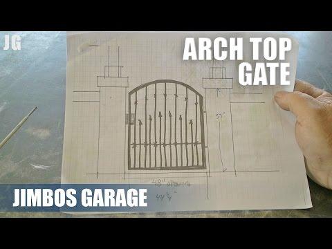 Metal Arch Top Gate - JIMBOS GARAGE