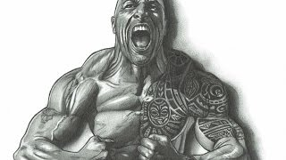 Dwayne The Rock Johnson A Dredfunn Mechanical Pencil Portrait