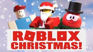 ROBLOX: Raining Presents! (CHRISTMAS Stop-Motion Toy Parody) #RobloxToys