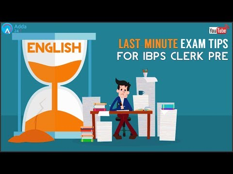 Last Minute Tips For IBPS CLERK PRE 2017 | English | Online Coaching For SBI IBPS BANK PO