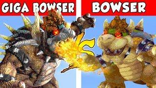 GIGA BOWSER vs BOWSER – PvZ vs Minecraft vs Smash