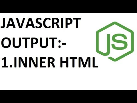 Javascript Output Using Inner Html