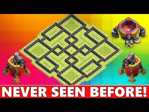 Clash Of Clans | EPIC TOWN HALL 9 FARMING BASE (TH9) | NEW TH9 FARMING DEFENSE STRATEGY 2015!
