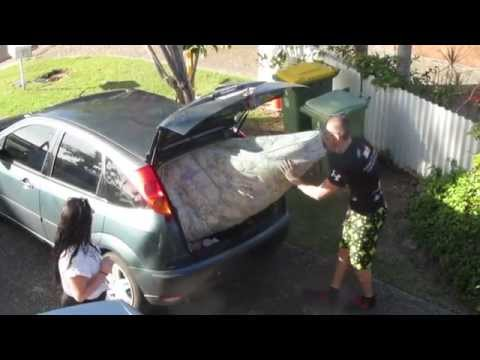 How much mattress can you fit into a small car?