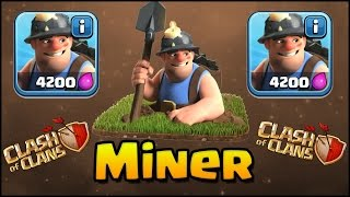 """TH9 DIRTY HOG """"MINER"""" GIANT ! New Legendary Miner Gameplay Clash Of Clans"""