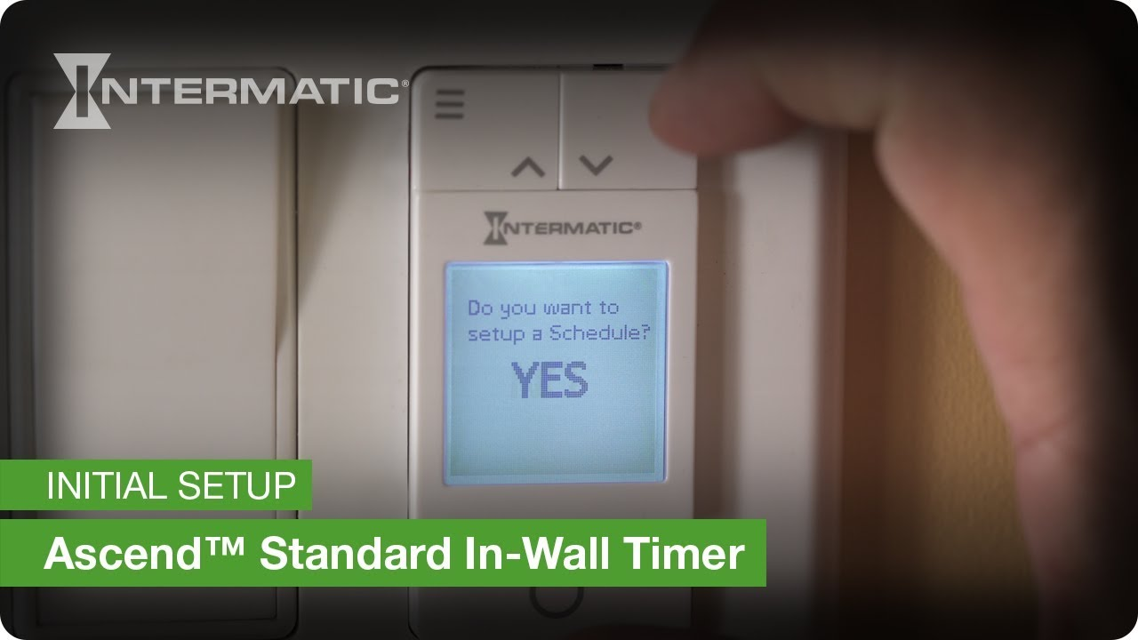 Ascend Standard In Wall Timer St700w Initial Setup Instructions