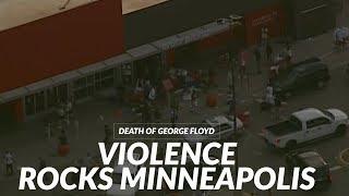 Video captures apparent looting in Minneapolis during night of protests for George Floyd
