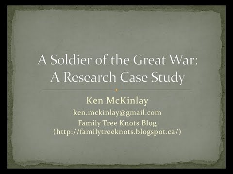 A Soldier of the Great War:A Research Case Study