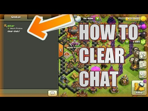 How To Clear Chat in clash of clans ||CLASH OF CLANS|| HINDI